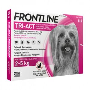 Frontline - Tri-Act Chien 2-5kg - 3 pipettes