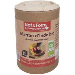 Nat & Form - Marron d'Inde Bio - 90 gélules