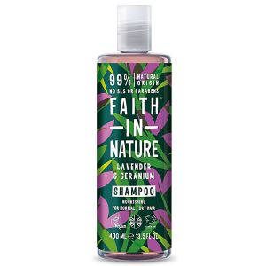 Faith in Nature - Shampooing lavande et géranium - 400 ml