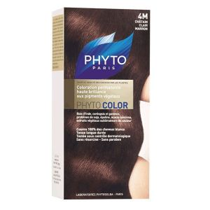 Phyto - Phytocolor 4M châtain clair marron coloration soin permanente